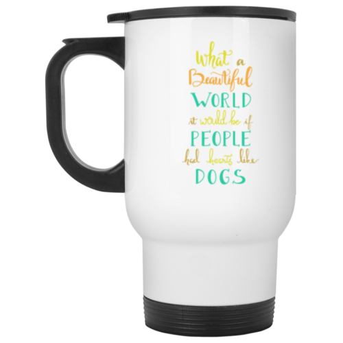Hearts Like Dogs Stainless Steel Travel Mug