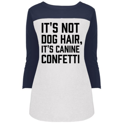 Canine Confetti Colorblock 3/4 Sleeve