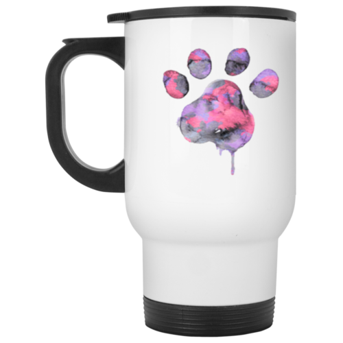 Watercolor Paw Stainless Steel Travel Mug