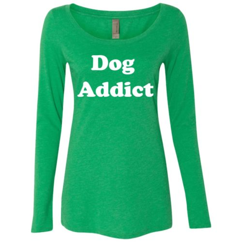 Dog Addict Fitted Scoop Neck Long Sleeve