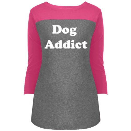 Dog Addict Colorblock 3/4 Sleeve