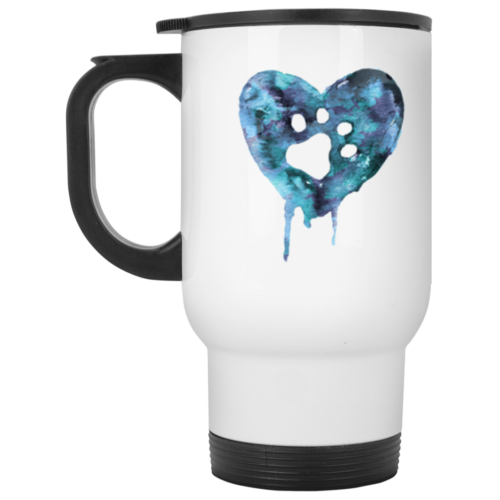 Watercolor Heart Stainless Steel Travel Mug