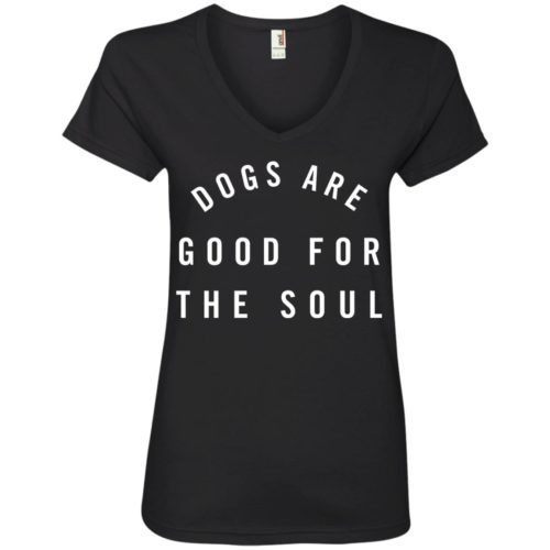 Dogs Are Good V-Neck Tee