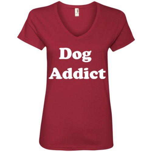 Dog Addict V-Neck Tee