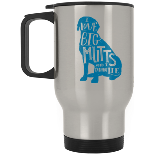 I Love Big Mutts Stainless Steel Travel Mug