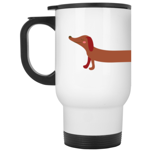 Dachshund Stretch Stainless Steel Travel Mug
