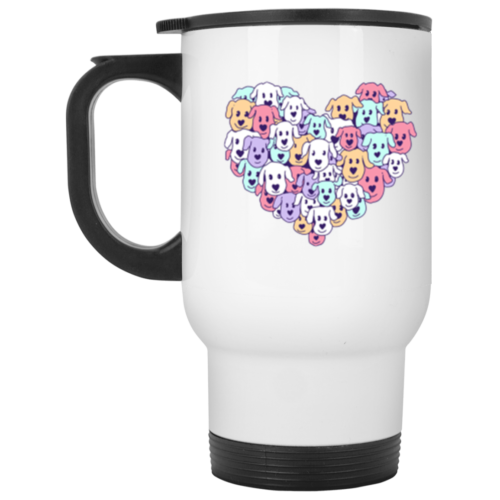 Heart of Dogs Stainless Steel Travel Mug