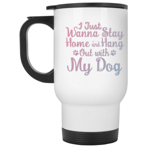 Stay Home Stainless Steel Travel Mug