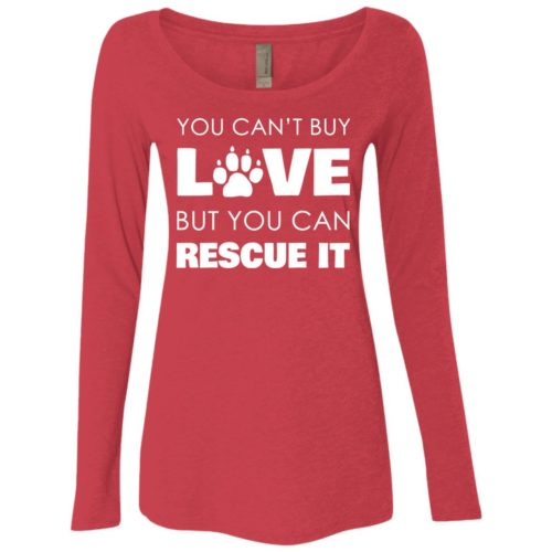 Rescue Love Fitted Scoop Neck Long Sleeve