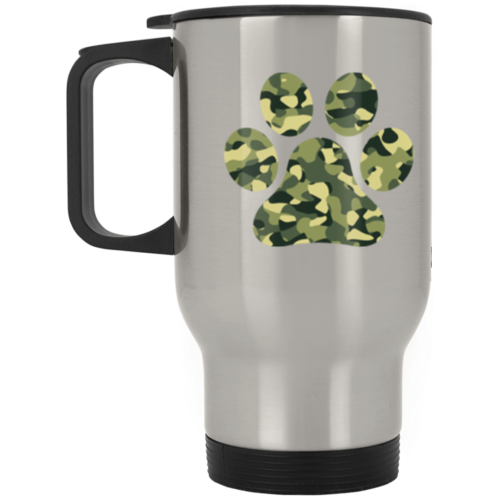 Camo Paw Stainless Steel Travel Mug