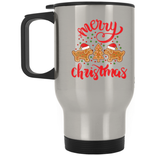 Gingerbread Dogs Stainless Steel Travel Mug