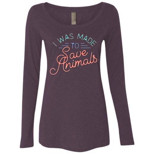 Made To Save Fitted Scoop Neck Long Sleeve