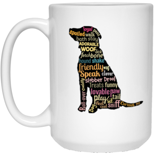 Dog Word Art 15 oz. Mug