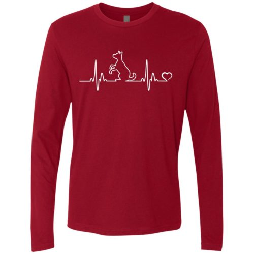 Dog Heartbeat Premium Long Sleeve Tee