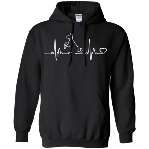 Dog Heartbeat Pullover Hoodie
