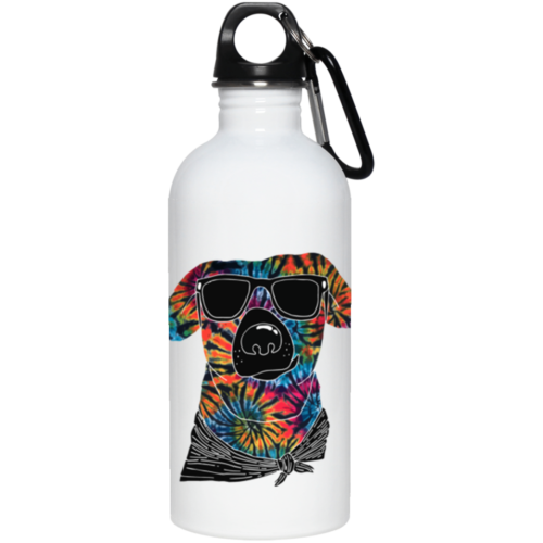 Tie Dye Dog Stainless Steel Water Bottle