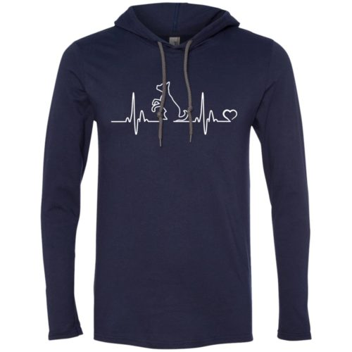 Dog Heartbeat Lightweight T-Shirt Hoodie