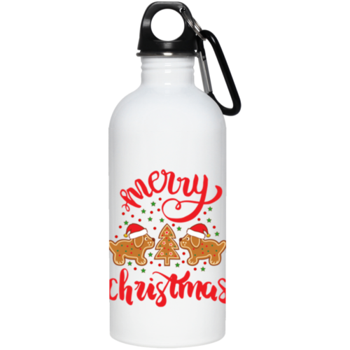 Gingerbread Dogs Stainless Steel Water Bottle