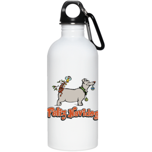 Feliz Navidog Stainless Steel Water Bottle