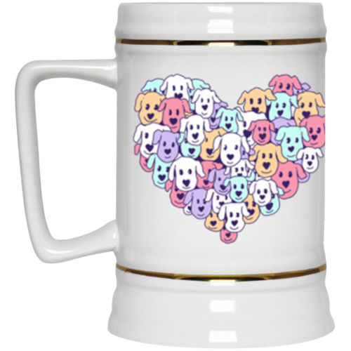 Heart of Dogs Beer Stein 22oz.