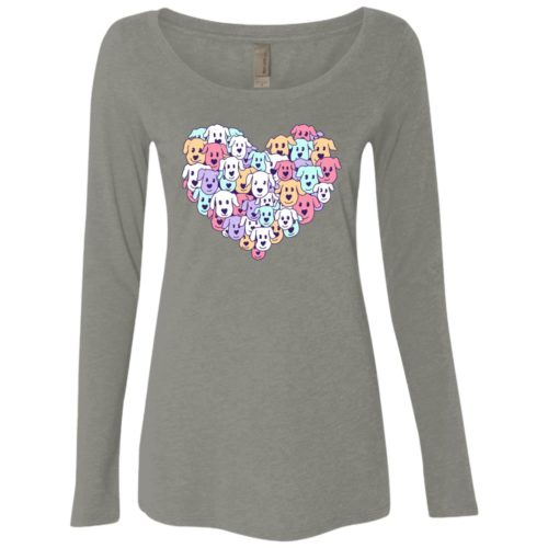 Heart Of Dogs Fitted Scoop Neck Long Sleeve