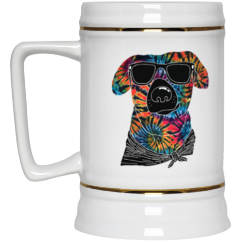 Tie Dye Dog Beer Stein 22oz.