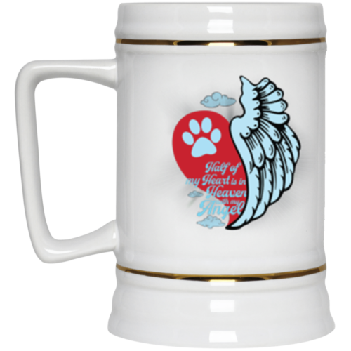 Half Of My Heart Beer Stein 22oz.