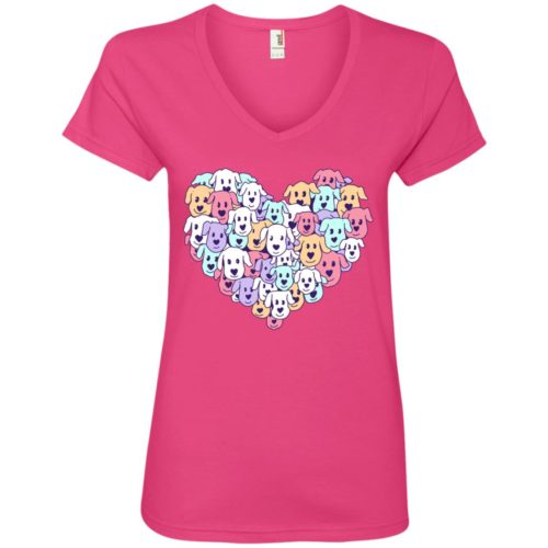Heart Of Dogs V-Neck Tee