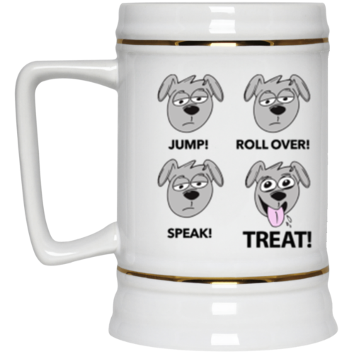 Happy Treat Beer Stein 22oz.