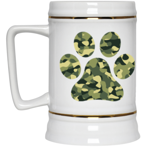 Camo Paw Beer Stein 22oz.