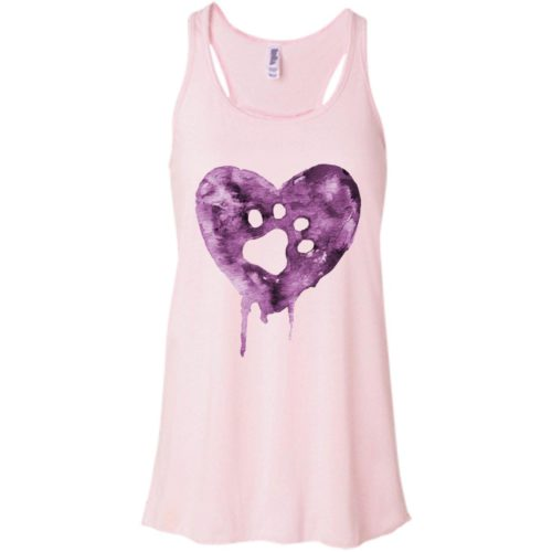 Watercolor Heart Flowy Tank