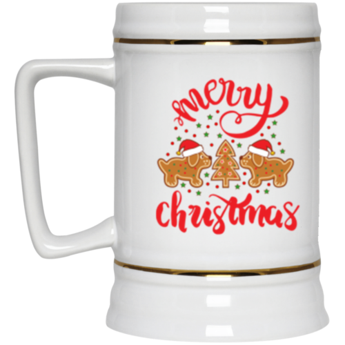 Gingerbread Dogs Beer Stein 22oz.