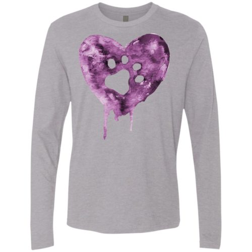 Watercolor Heart Premium Long Sleeve Tee