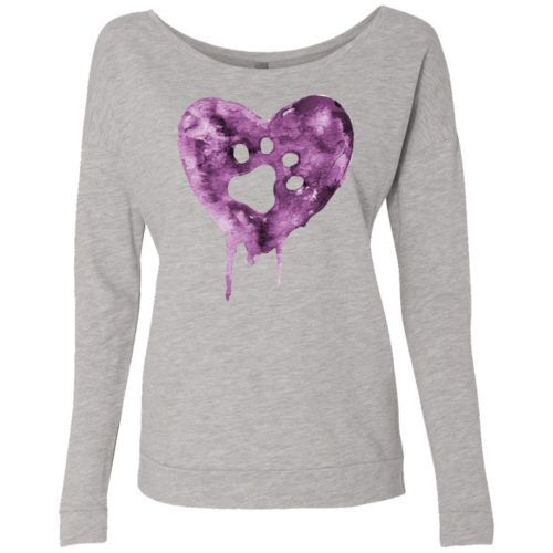 Watercolor Heart Scoop Neck Sweatshirt