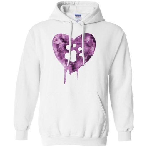 Watercolor Heart Pullover Hoodie