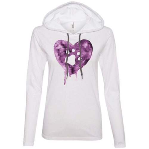 Watercolor Heart Fitted T-Shirt Hoodie