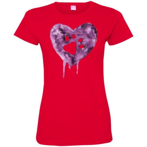 Watercolor Heart Fitted Tee