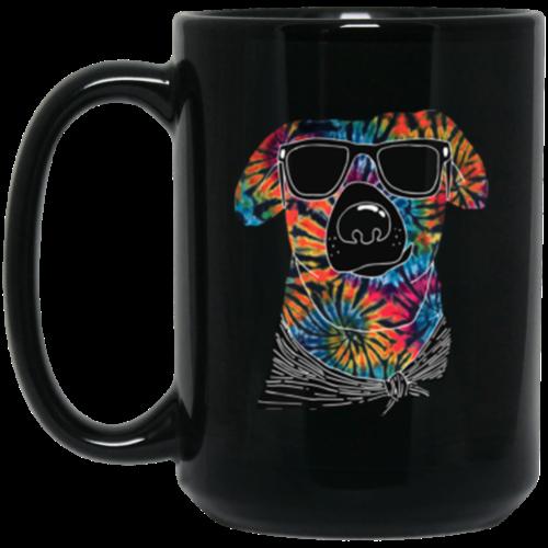 Tie Dye Dog 15 oz. Mug