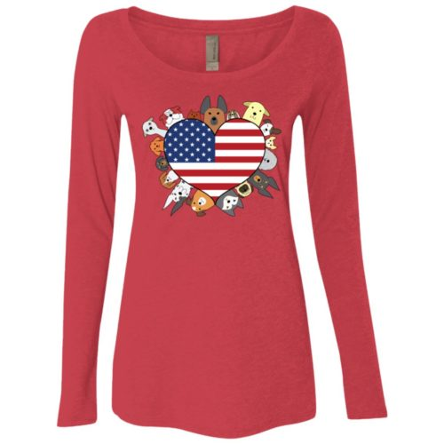 Heart Dog USA Fitted Scoop Neck Long Sleeve