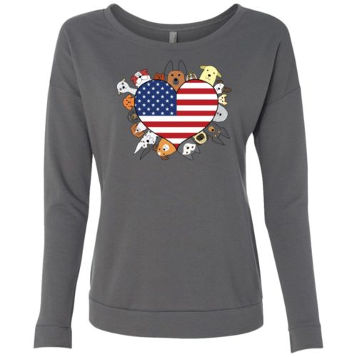 Heart Dog USA Scoop Neck Sweatshirt