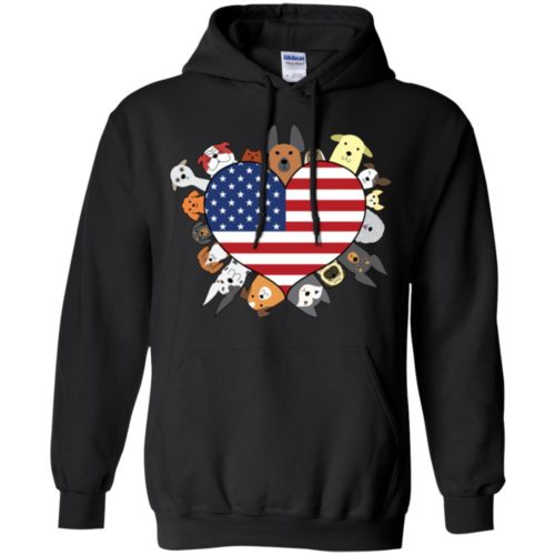 Heart Dog USA Pullover Hoodie