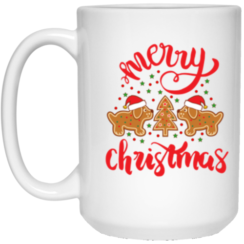 Gingerbread Dogs 15 oz. Mug