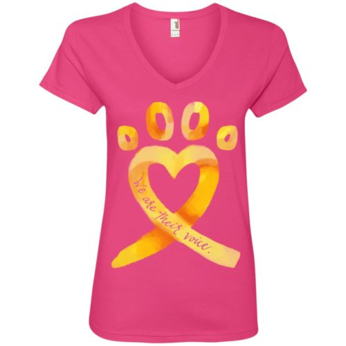 Animal Cruelty Ribbon V-Neck Tee