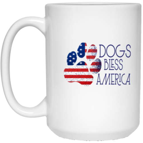 Dogs Bless America 15 oz. Mug