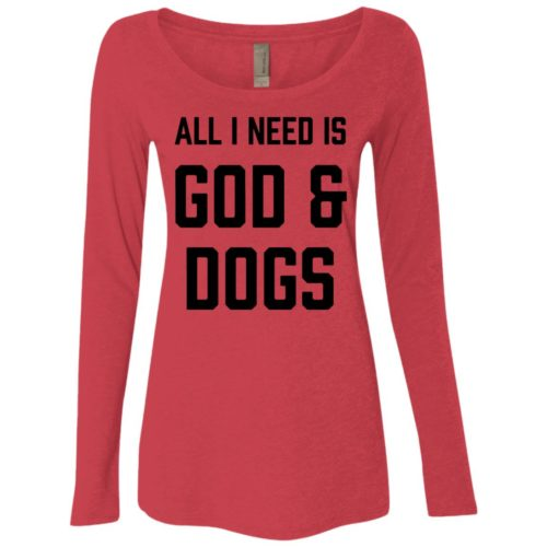 God & Dogs Fitted Scoop Neck Long Sleeve