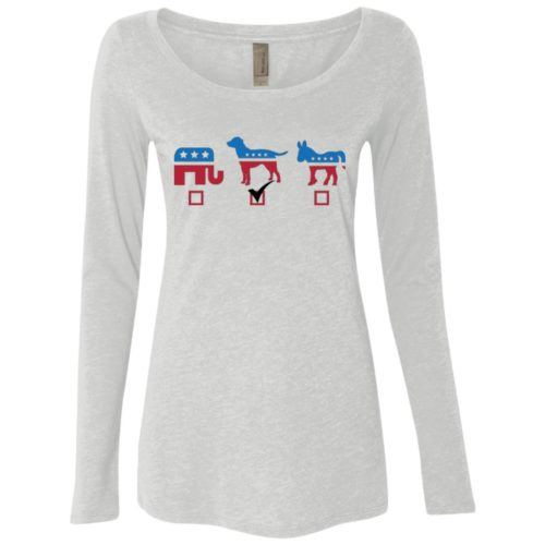 My Vote Fitted Scoop Neck Long Sleeve