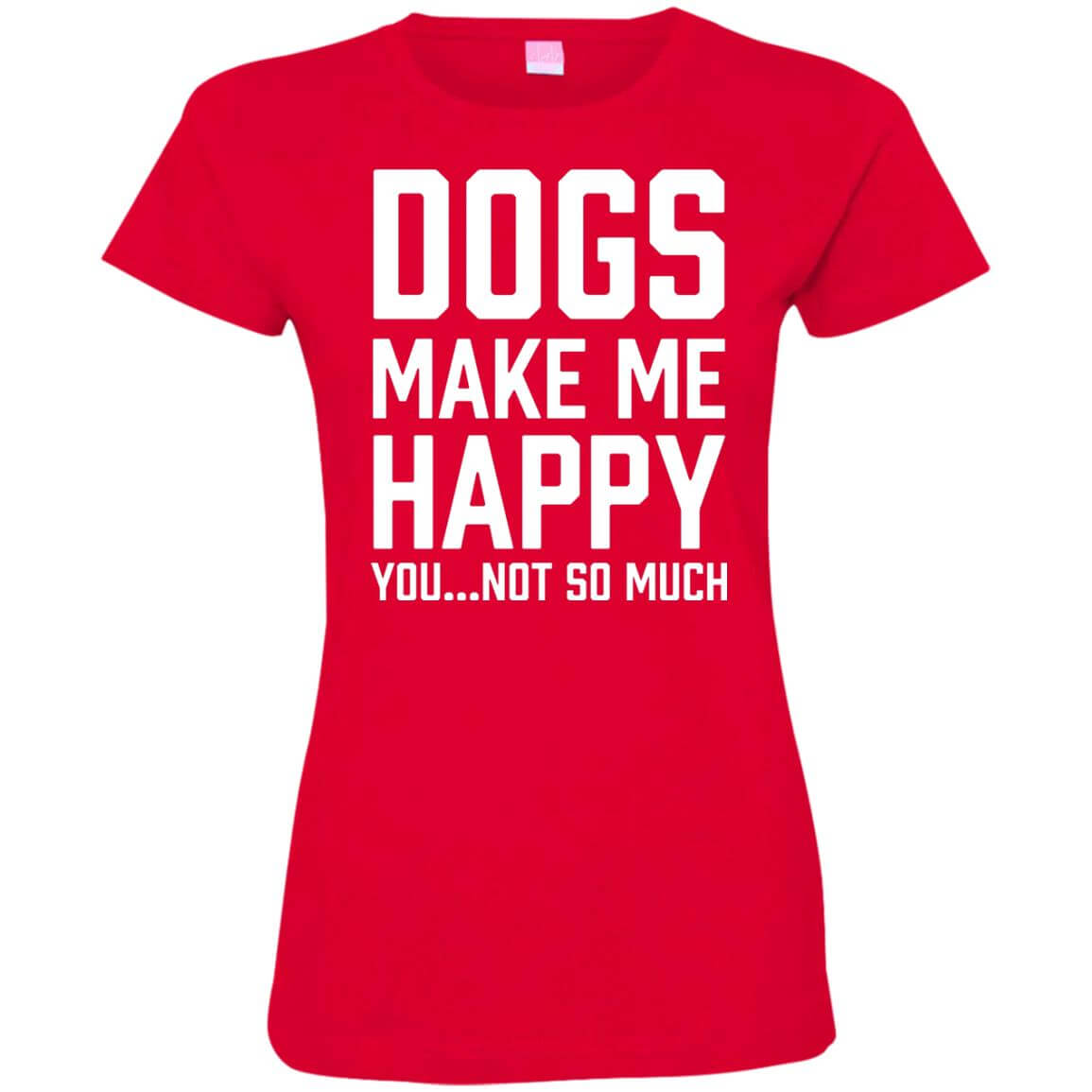 Dogs make me happy ladies premium t shirt for Medical pet shirt dog