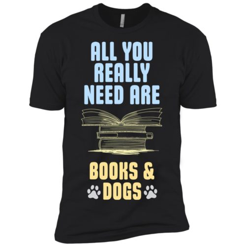 Books & Dogs Premium Tee