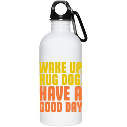 Wake Up Stainless Steel Water Bottle