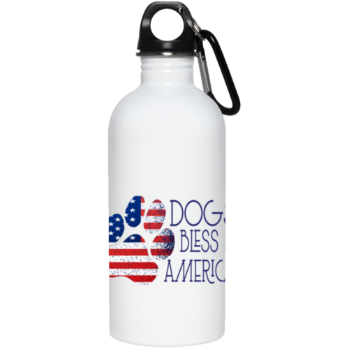 Dogs Bless America Stainless Steel Water Bottle